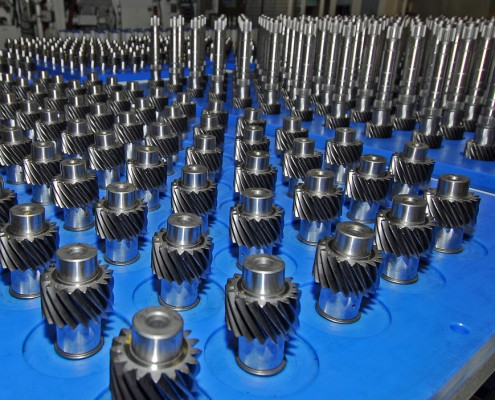 manufacturing facility for the production of automotive transmission ** Note: Shallow depth of field
